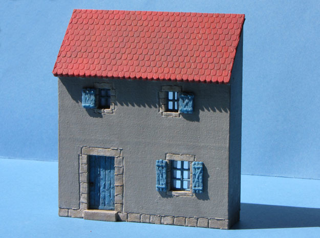 HOvVT22 - Troglodyte village in White Natural Versatile Plastic