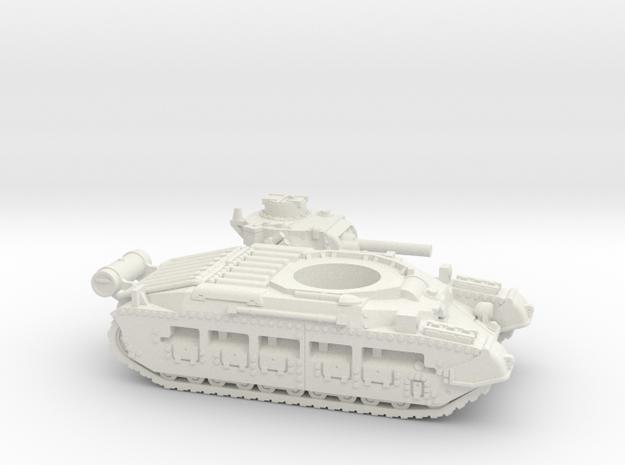 Matilda II with Fuel tank (British) 1/100 in White Natural Versatile Plastic