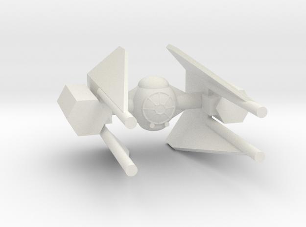 TIE M3 in White Natural Versatile Plastic