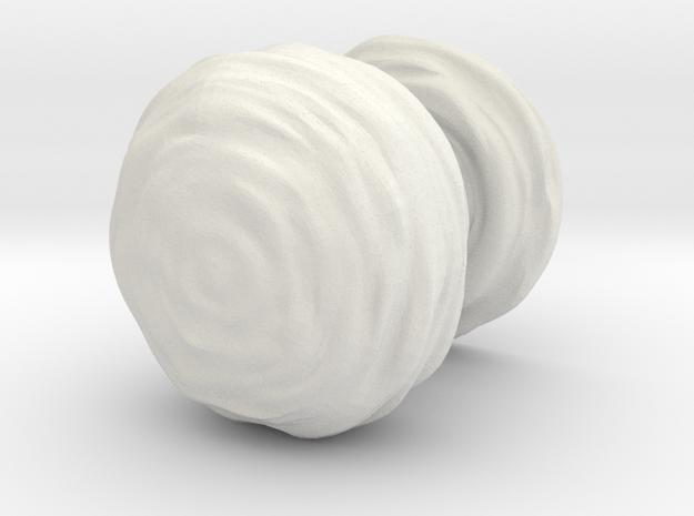 Mushroom Cloud 5cm in White Strong & Flexible