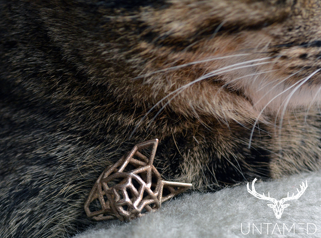 Untamed: The Cat Pendant in Stainless Steel: Small