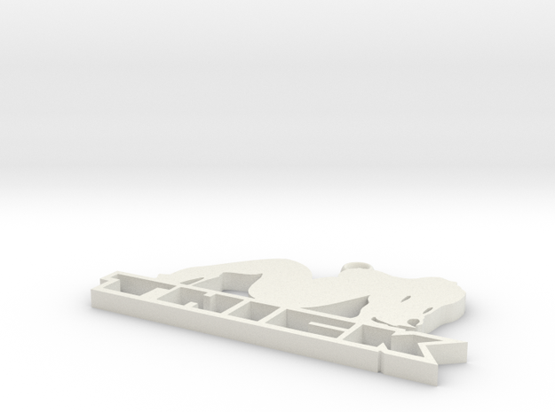 THICK keychain in White Natural Versatile Plastic