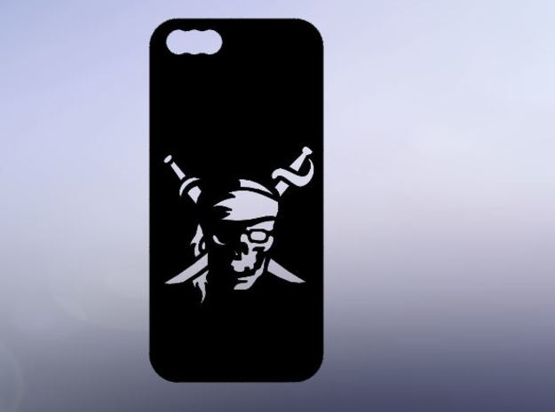 IPhone 5s PiRATES CASE in Black Natural Versatile Plastic