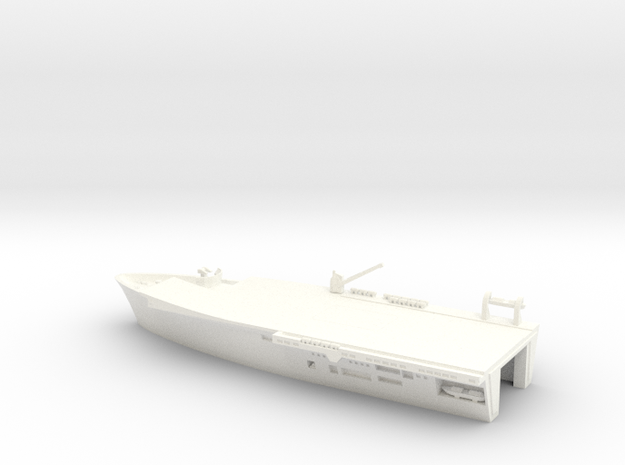 1/600 Scale HMS Invincible Bow in White Strong & Flexible Polished