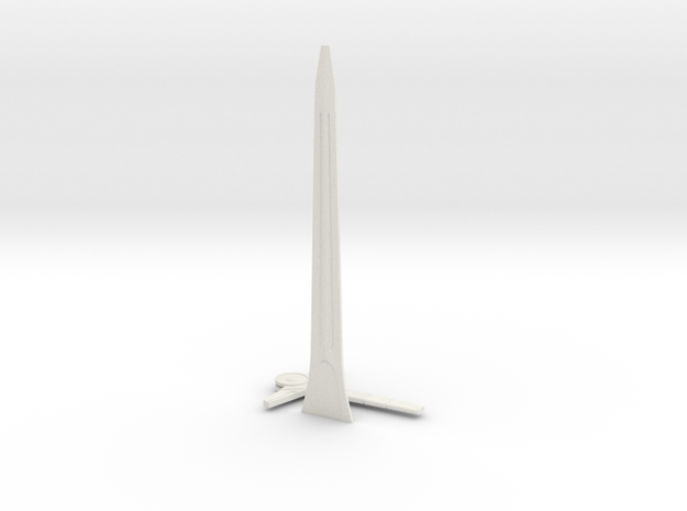 electronic Sword in White Natural Versatile Plastic