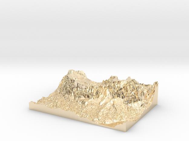 "MyTinyDolomites ""Sasso Croce"" - Alta Badia (Italy) in 14k Gold Plated"