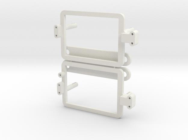 Saddle Pack Tray Set in White Natural Versatile Plastic