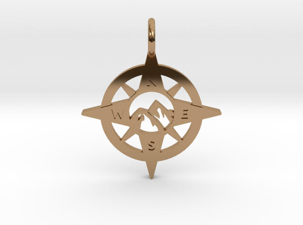 Compass and Mountains Pendant