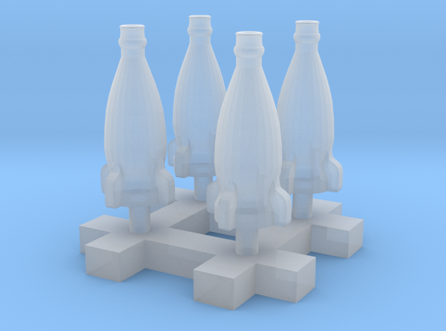 Rocket bottle 1:12 150mm Scale 20cm 4pcs in Frosted Extreme Detail
