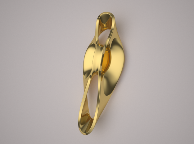 Triple Cube Gold 050 in 14K Yellow Gold