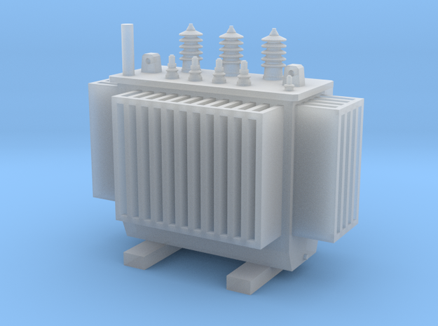 Electric Transformer H0 Scale 1:87 in Smooth Fine Detail Plastic
