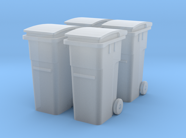 TJ-H01125x4 - Poubelles 2 roues in Frosted Ultra Detail