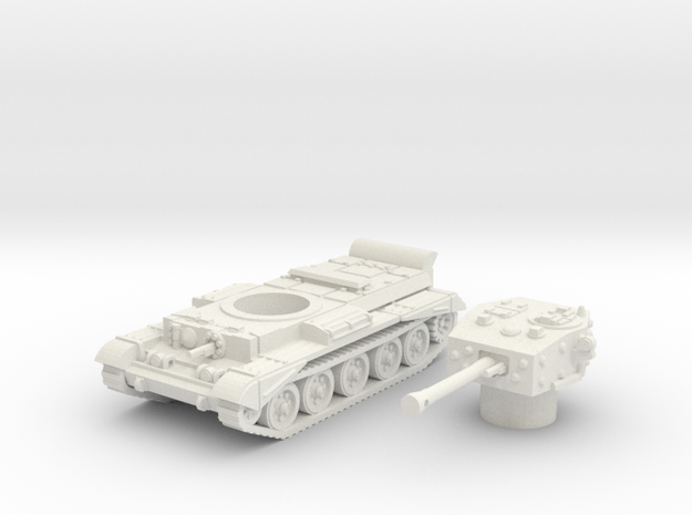 Cromwell IV Tank (British) 1/100  in White Natural Versatile Plastic