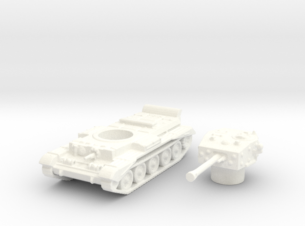 Cromwell IV Tank (British) 1/144 in White Processed Versatile Plastic