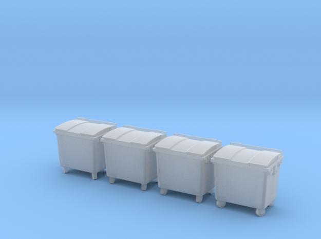 TJ-H01126x4 - Poubelles 4 roues in Smooth Fine Detail Plastic