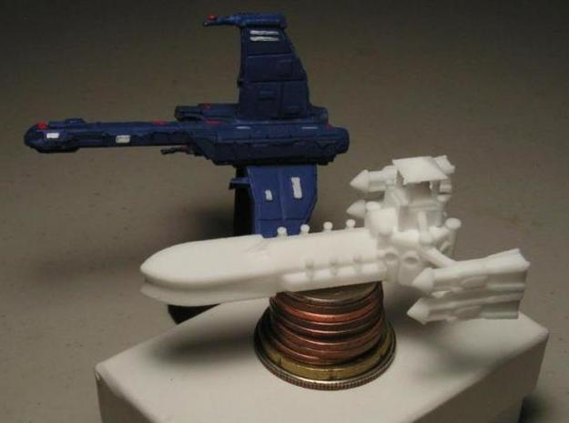 Gothic Destroyer x2 3d printed Photo with Brigade Models New Jersey Class ship for scale