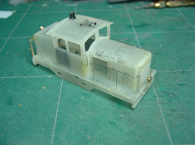 Locotracteur Doubs 102 HOm/HOe 1:87 3d printed unpainted model with added details