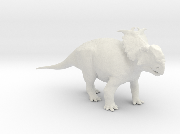 Pachyrhinosaurus canadensis - Alert Male 1/40 in White Strong & Flexible