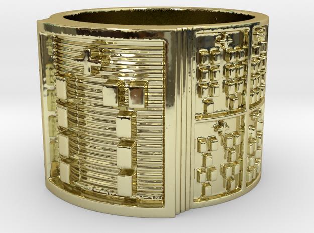OSALOFOGBEYO Ring Size 14 in 18k Gold Plated Brass
