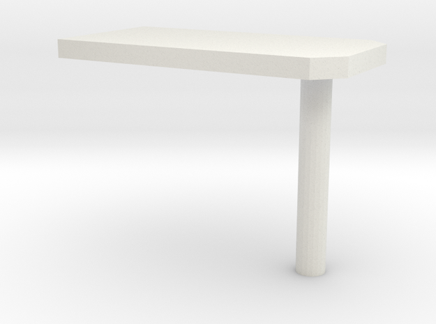 000010 wall table Tisch 1:87 in White Natural Versatile Plastic