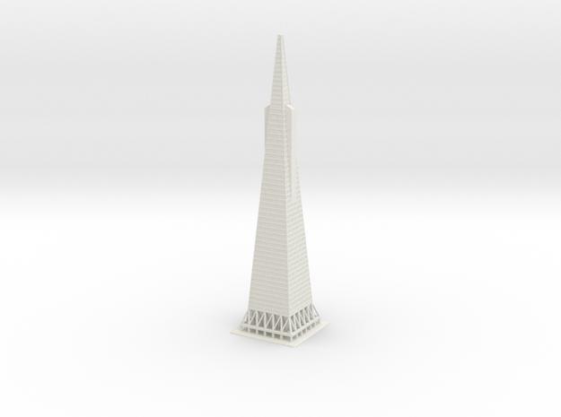 """12"""" Transamerica Pyramid in White Natural Versatile Plastic"""