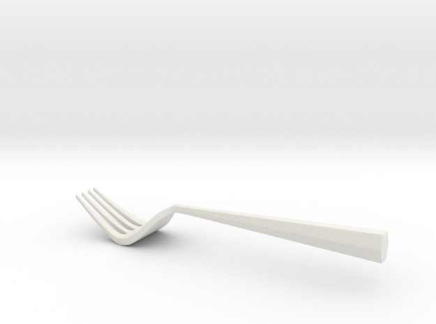 Fork One in White Strong & Flexible