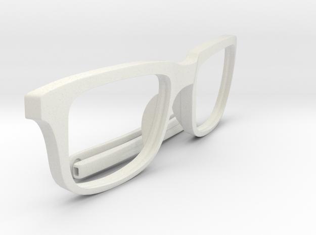 Optimus Print (Frame Front + Temple Tips) in White Natural Versatile Plastic
