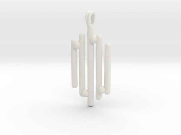 Eclectic Pendant Symbolic Jewelry Pendant in White Natural Versatile Plastic