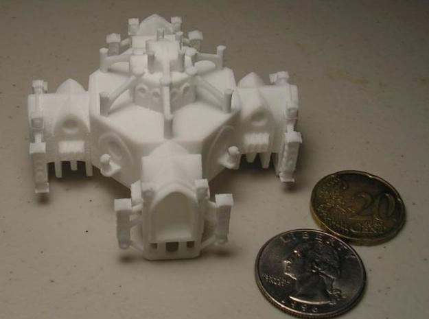 Gothic Space Station 3d printed photo 2