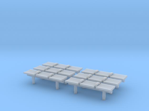 TJ-H04550x6 - bancs de quai 3 places in Smooth Fine Detail Plastic