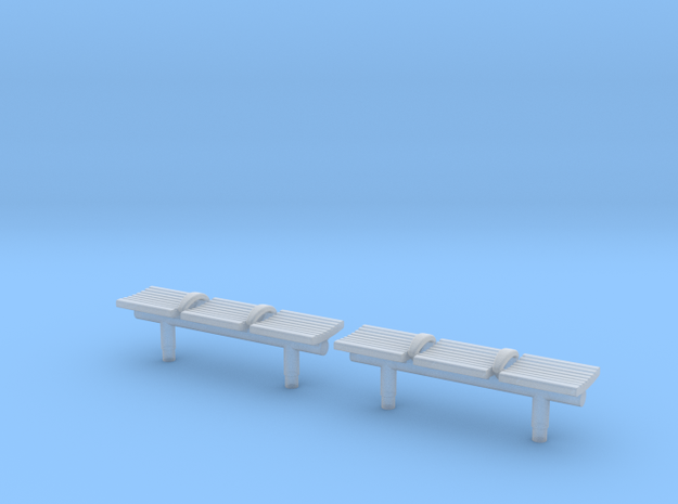 TJ-H04550x2 - bancs de quai 3 places in Smooth Fine Detail Plastic