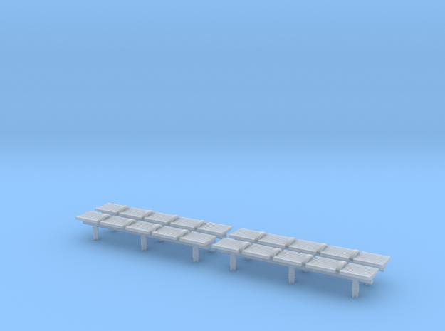 TJ-H04551x4 - bancs de quai 5 places in Smooth Fine Detail Plastic