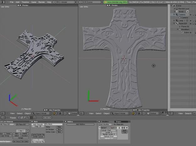 Life cross 3d printed The making.