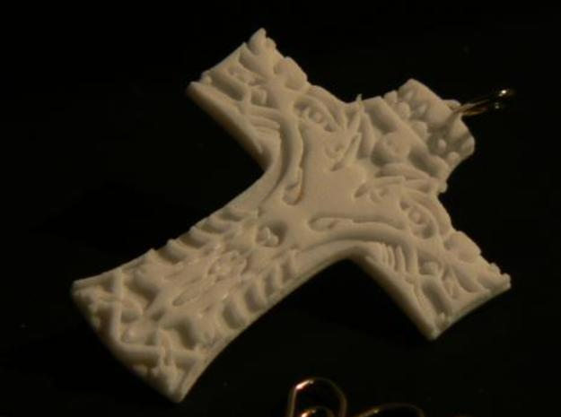 Life cross 3d printed White Strong & Flexible