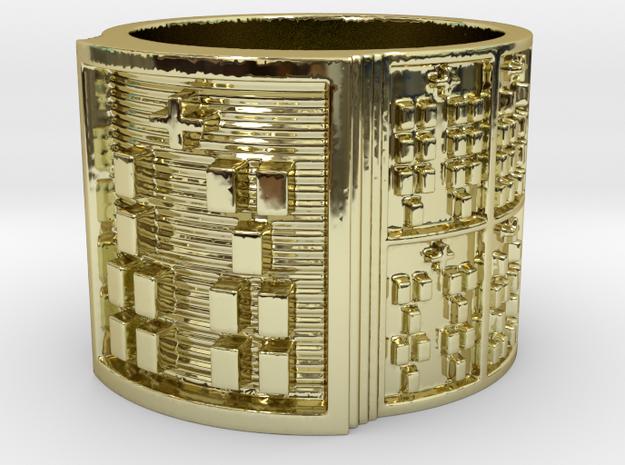 IKAROSO Ring Size 13.5 in 18k Gold Plated Brass