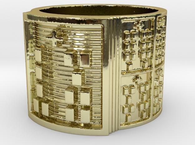IKAOGUNDA Ring Size 14 in 18k Gold Plated Brass