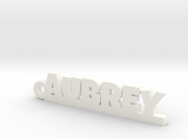 AUBREY Keychain Lucky in White Processed Versatile Plastic