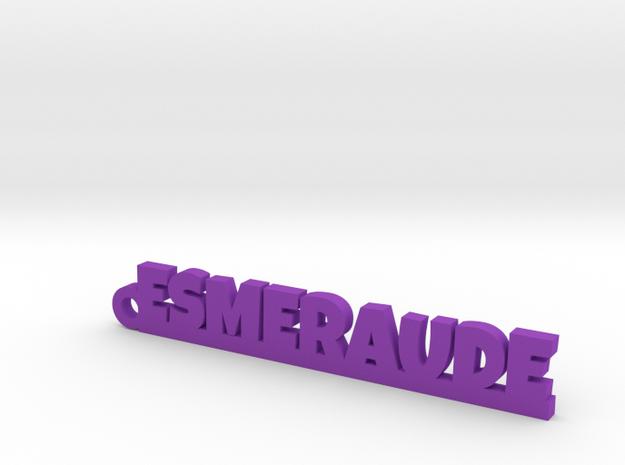 ESMERAUDE Keychain Lucky in Purple Processed Versatile Plastic