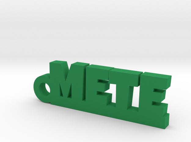 METE Keychain Lucky in Green Processed Versatile Plastic