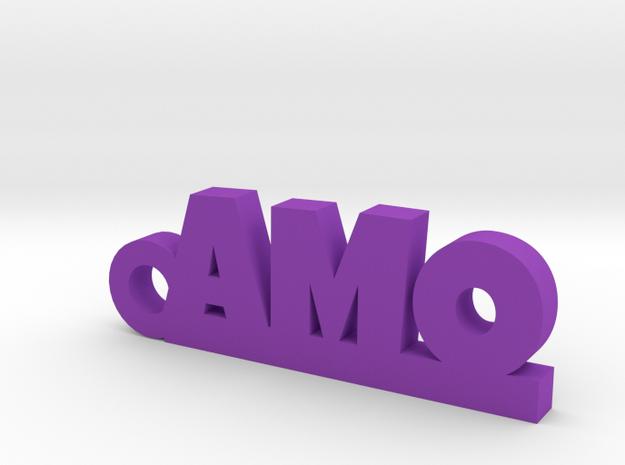 AMO Keychain Lucky in Purple Processed Versatile Plastic