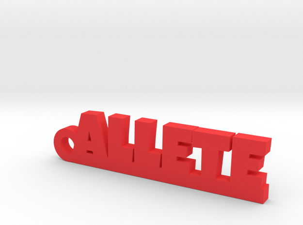 ALLETE Keychain Lucky in Red Processed Versatile Plastic