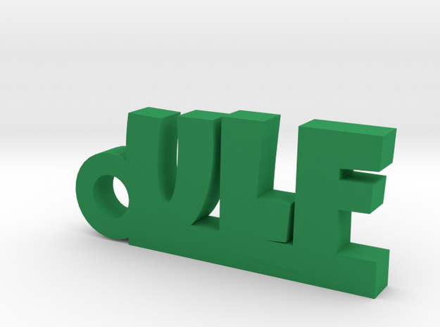 ULF Keychain Lucky in Green Processed Versatile Plastic