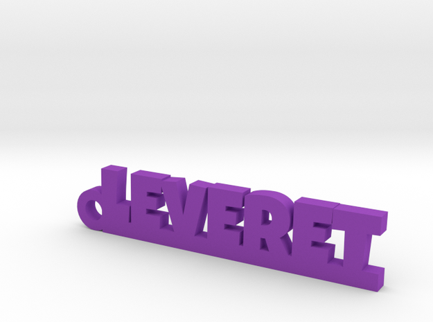 LEVERET Keychain Lucky in Purple Processed Versatile Plastic