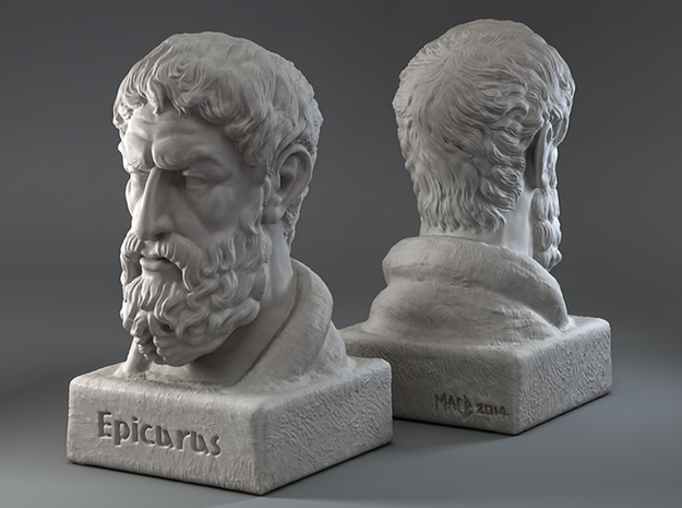 Epicurus Bust 12 inches