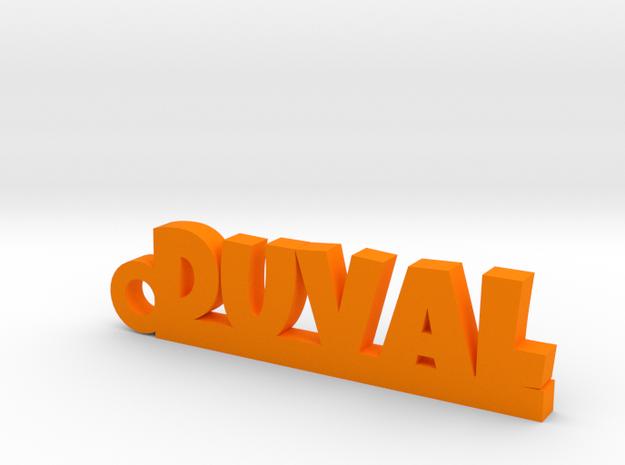 DUVAL Keychain Lucky in Orange Processed Versatile Plastic