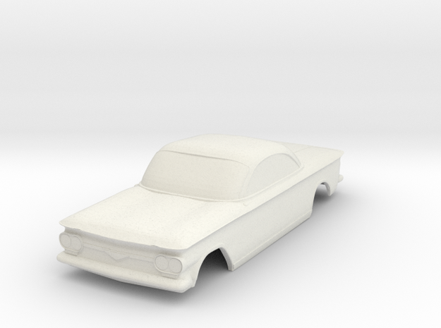 1963 Corvair Shell - 1:28 scale in White Natural Versatile Plastic