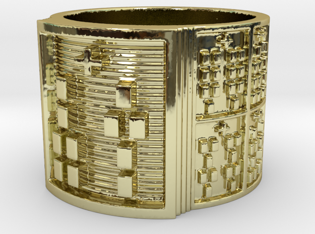 OTURAMUN Ring Size 14 in 18k Gold Plated Brass