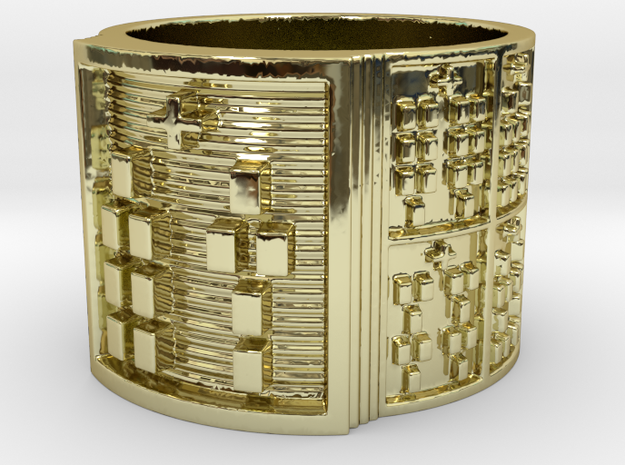 OTURABARA Ring Size 14 in 18k Gold Plated Brass