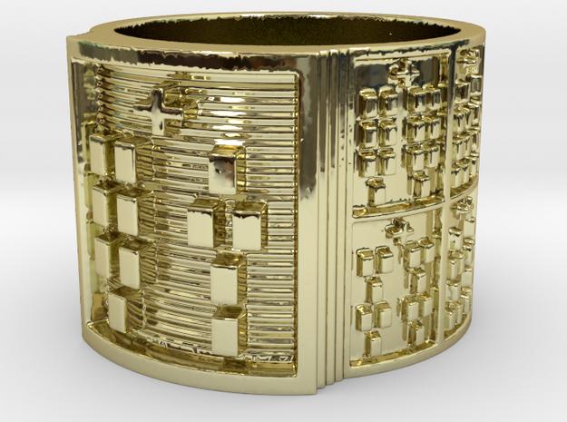 OTURATIKU Ring Size 14 in 18k Gold Plated Brass
