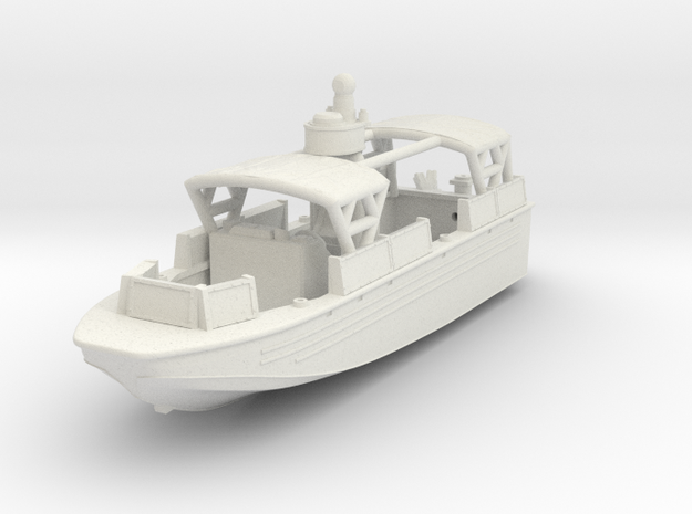 1/144 USN Riverine Assault Boat  (With Canopy) - C in White Strong & Flexible